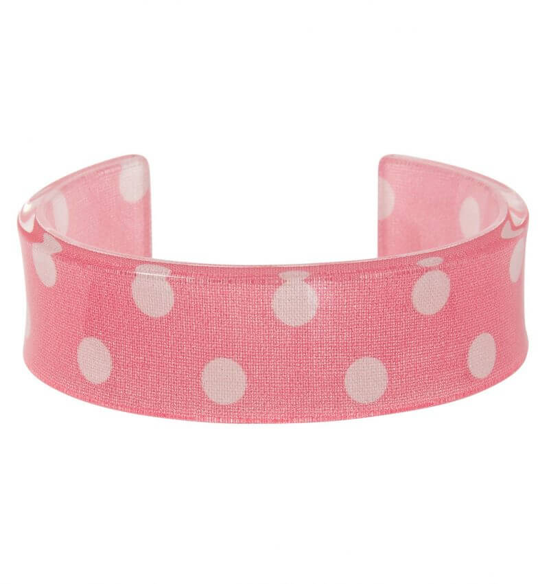 Cath Kidston Bangle Resin Pink Spot Was £6