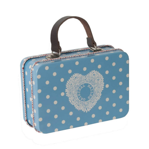 Maileg Suitcase Blue Dotty