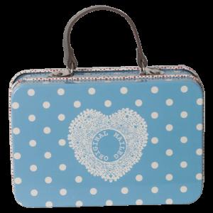 Maileg Suitcase Blue Dotty