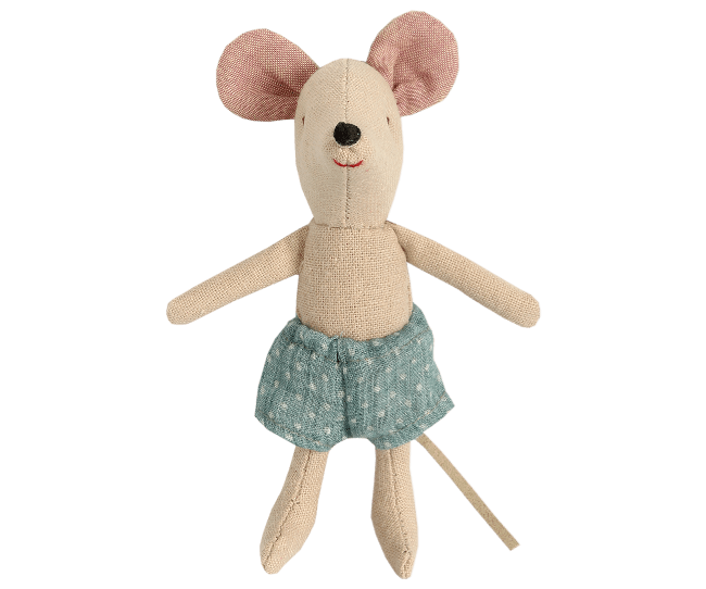 Maileg Mouse With Blue Shorts