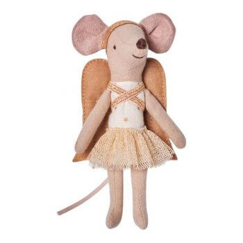 Maileg Angel Mouse in a Suitcase