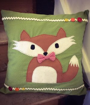 fox cushion sewing workshop bibelot leek