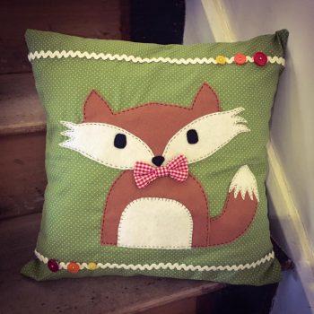 fox cushion sewing workshop bibelot leek