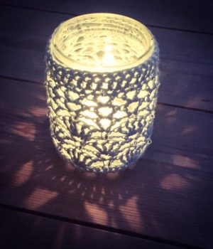 crochet tea light holder workshop bibelot leek