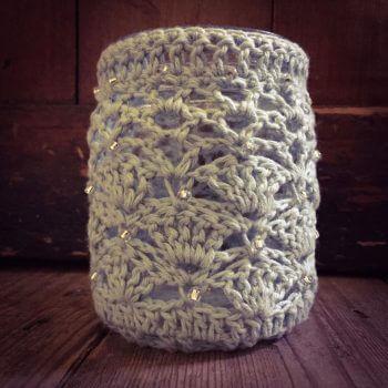 crochet tea light holder workshop bibelot leek