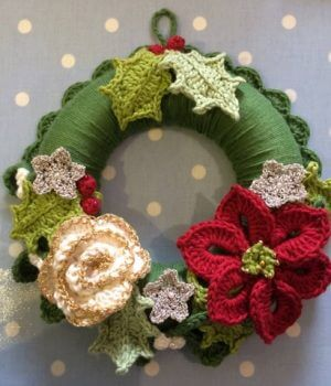 crochet wreath workshop at bibelot
