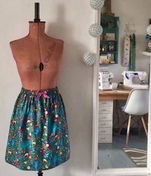 make a simple skirt in a day workshop at bibelot