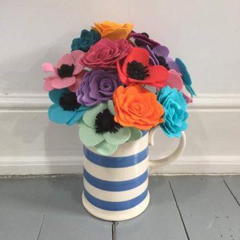 felt flower workshop at bibelot