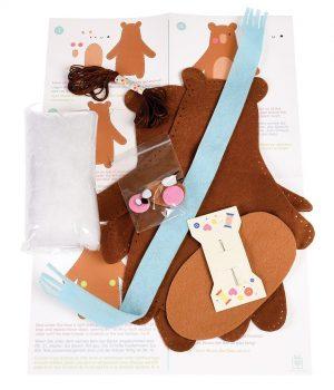 Make Your Own Teddy Bear Felt Kit