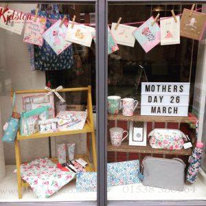 Bibelot leek Mother's Day window display Cath Kidston