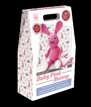The Crafty Kit Company Crochet Kit Baby Pink Bunny