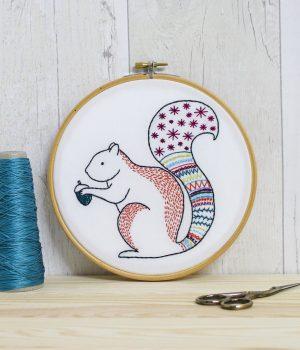 Handmade Hawthorne Embroidery Kit Squirrel