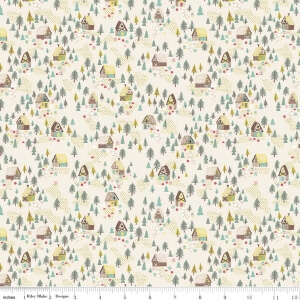 """Goldi Cottage Cream"" Cotton Fabric by Jill Howarth for Riley Blake Designs"