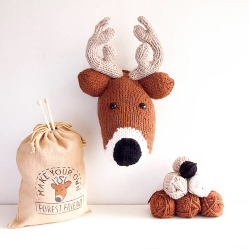 Deer Head Knitting Kit