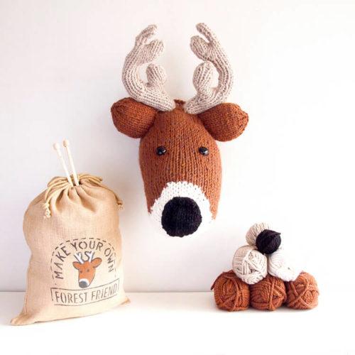 Deer Head Knitting Kit