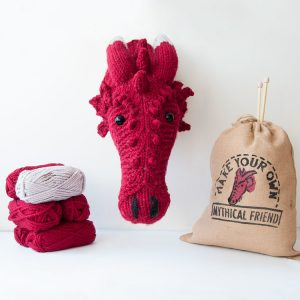 Dragon trophy head knitting kit