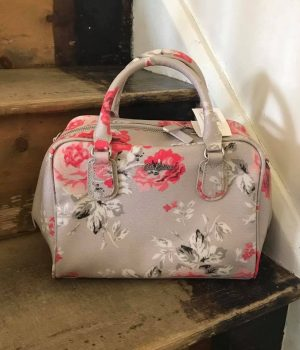 Cath Kidston Antique Rose Midi Box Bowler Bag