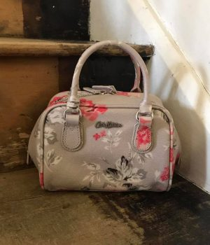 Cath Kidston Antique Rose Mini Box Bowler Bag