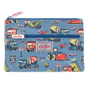 Cath Kidston Construction Site Kids Double Zip Pencil Case