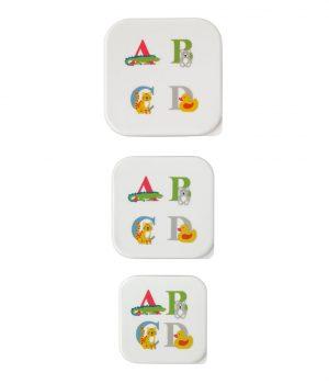 Cath Kidston Animal Alphabet Set of 3 Snack Boxes