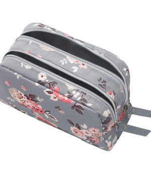 Cath Kidston Wells Rose Poly Double Zip Pouch