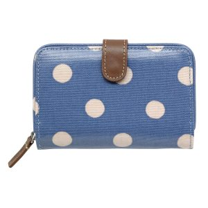 Cath Kidston Button Spot Folded Zip Wallet