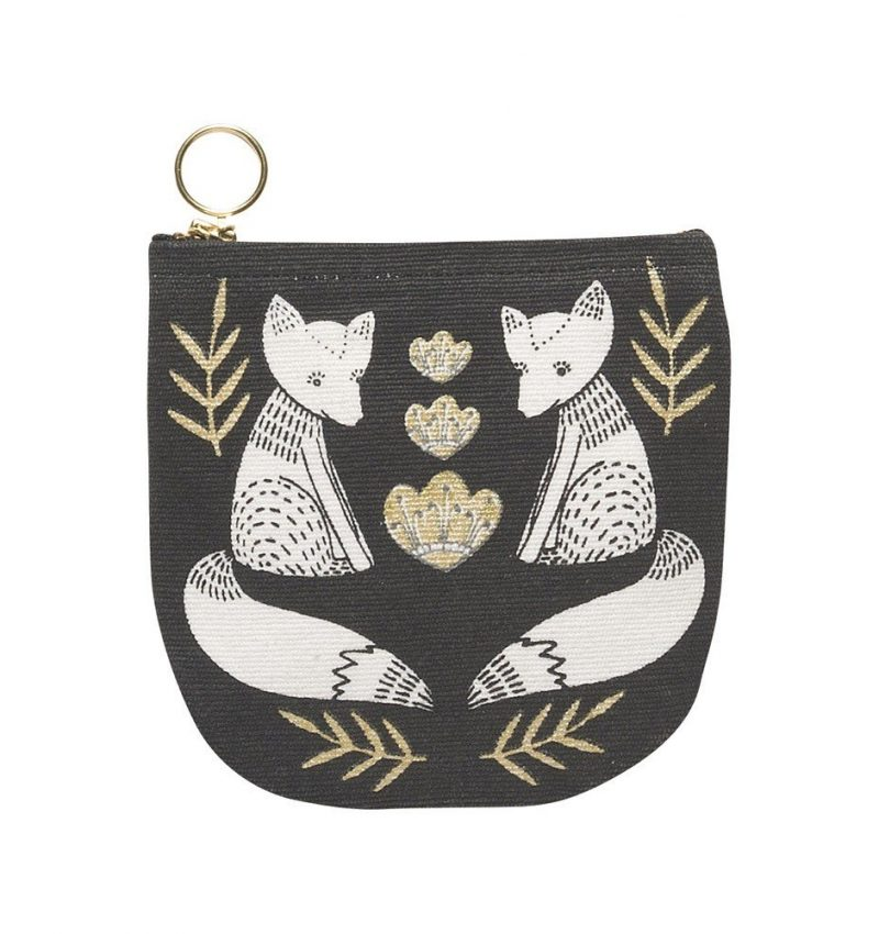 Wild tales fox half moon purse from Danica Studios
