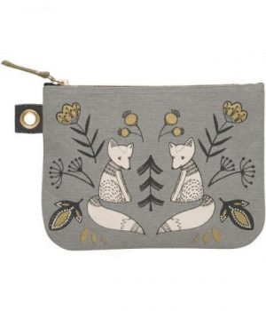 Wild tales bird zipper pouch from Danica Studio