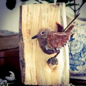 needle felted wren workshop