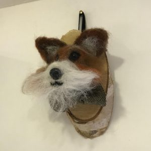 bibelot fox head needle felting workshop