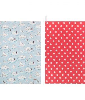 Cath Kidston Polar Bear Set of Two Tea Towels