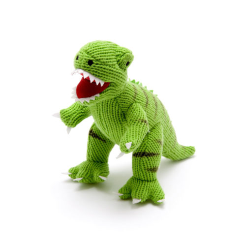 Best Years Knitted Dinosaur T Rex Toy