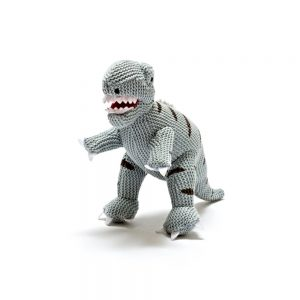 Best Years Small Grey Dinosaur Baby Rattle