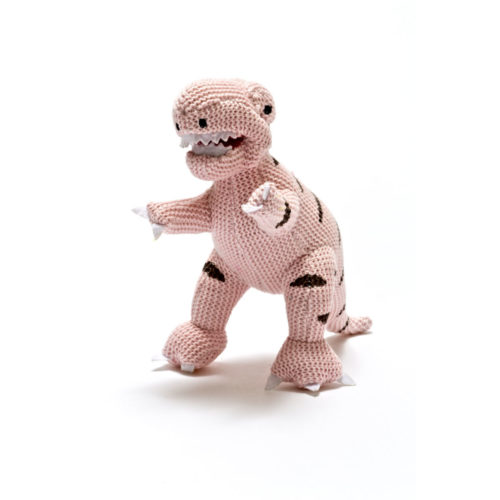 Best Years Small Pink Dinosaur Baby Rattle