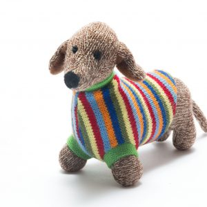 Best Years Knitted Sausage Dog Toy