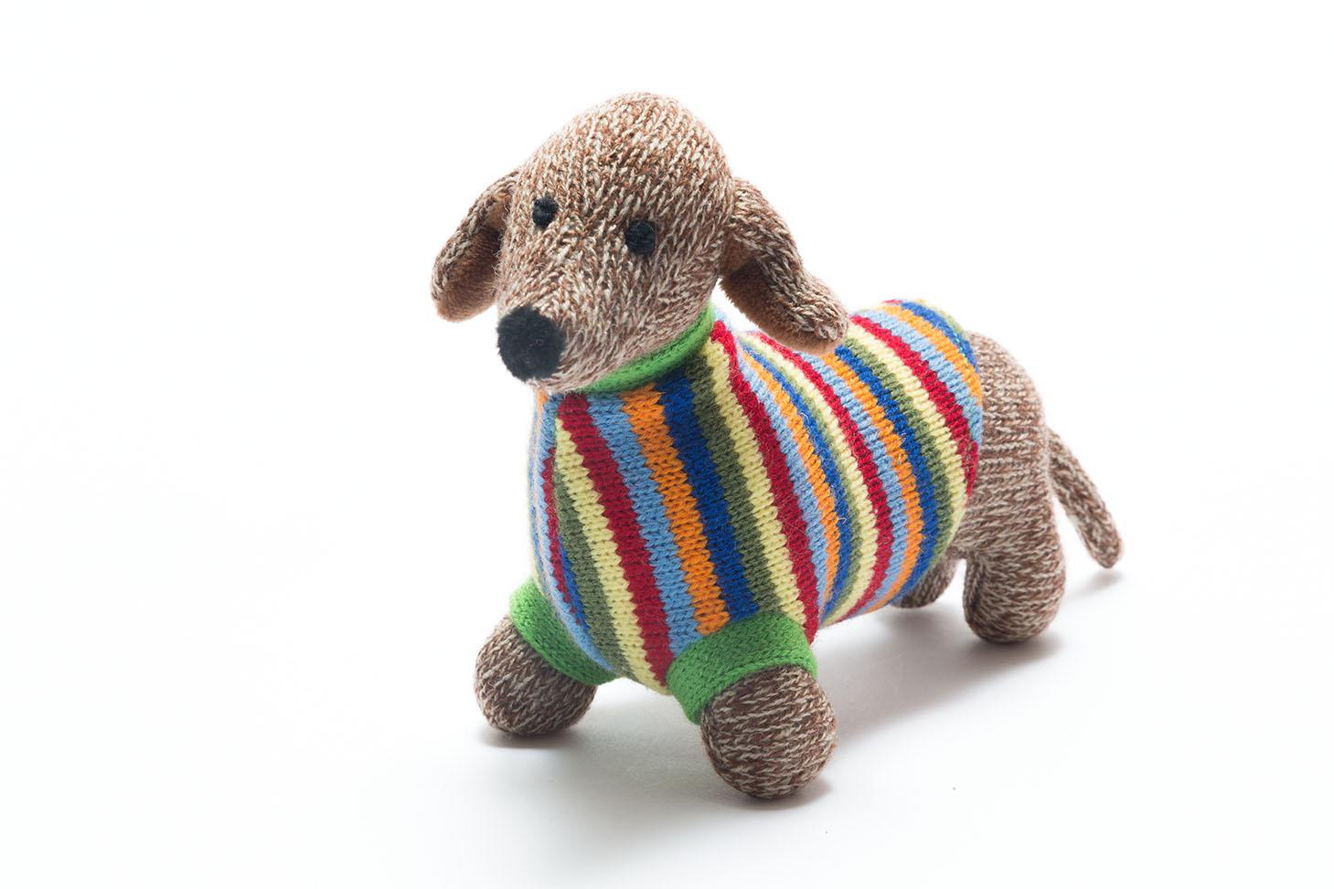 Best Years Knitted Sausage Dog Toy Bibelot