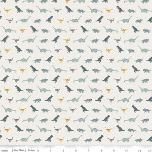 Fossil Tiny Dino Cream By Deena Rutter for Riley Blake