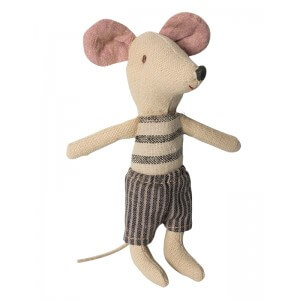 Maileg Big Brother Mouse Grey Stripe