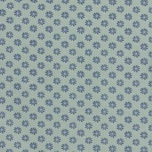 Liberty London Floral Dot Cotton Fabric Blue