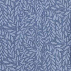Liberty London Leaf Trail Cotton Fabric Blue