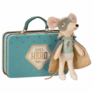 Maileg Super Hero Mouse in a Suitcase