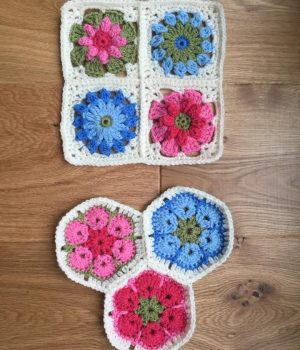 crochet hexagon and squares bibelot leek