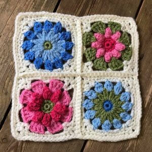 crochet hexagon and squares workshop bibelot leek
