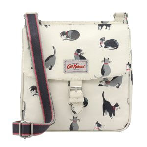 Cath Kidston Painted Cats Tab Saddle Bag