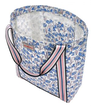 Cath Kidston Bluebells Reverse Coated Tote