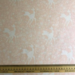 Bambi Silhouette In Pink Cotton Fabric