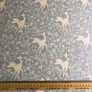 Bambi Silhouette In Blue Cotton Fabric