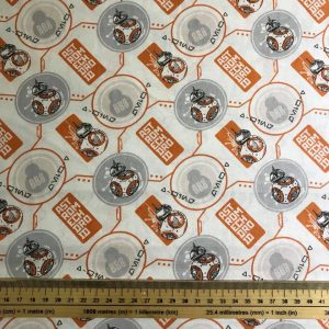 BB-8 Astromech Droid Star Wars Cotton Fabric