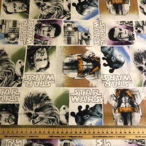 Character Block Star Wars Cotton Fabric