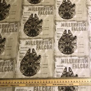 Millennium Falcon Star Wars Cotton Fabric